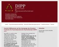 Bild Webseite Dresdner Institut für Psychodynamische Psychotherapie Dresden