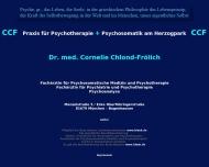 Bild Webseite Chlond-Frölich Cornelie Dr. Fachärztin für Psychosomatische Medizin München