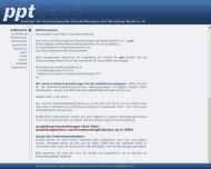 Bild Webseite Institut für Psychologische Psychotherapie (ppt) Berlin
