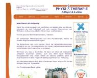 Bild Webseite Jäckel , Beyer Physiotherapie Dresden