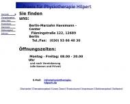 Bild Webseite Praxis für Physiotherapie Hilpert Berlin
