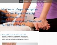 Website Martina u. Jürgen Hengstler Physiotherapie