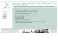 Bild Webseite Zentrale Praxis Ergotherapie u. Rehabilitation Reinhard Branz und Martin Natterer Ergotherapie München
