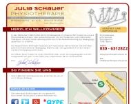 Bild Webseite Schauer Julia Physiotherapie Berlin