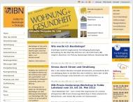 Website Institut für Baubiologie u. Ökologie Neubeuern