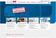 Website BfE, Institut für Energie und Umwelt
