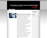 Bild Webseite Marketing Promotion Import Handels Hamburg