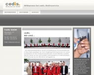 Bild Webseite cedis Elektroservice Berlin