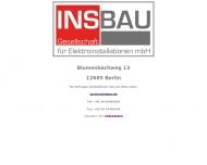 Bild Webseite Insbau-Ges. für Elektroinstallationen Berlin