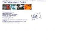 Bild Webseite ZiB Elektrodienst Berlin