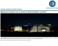 Bild Webseite Elektro Pele Berlin