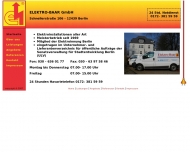 Bild Webseite Elektro-Baar Inh. Harald Werner Berlin