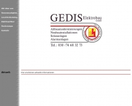 Bild Webseite GEDIS Elektrobau Berlin