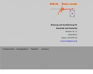 Bild Webseite Pick-As-Elektro Berlin