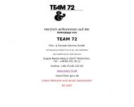 Bild Webseite Team 72, Film- und Fernsehservice München
