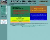 Bild Webseite Radio Naumann Cornelia Rechenberger eK. Radio- und Fernsehgeschäft Freital