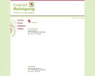Website Exquisit Reinigung Textilreinigung
