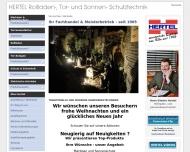 Bild Webseite HERTEL Köln