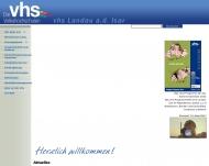 Bild Webseite  Landau an der Isar