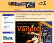 Bild Webseite Kulturwerkstatt Simmersfeld Simmersfeld