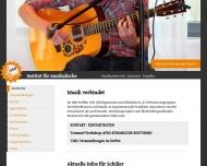 Bild Webseite Institut für musikalische Bildung Inh. Guzinski Corinna Dortmund