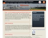 Bild Webseite Haus- und Grundbesitzverwaltung Wilfried Kühlem Köln
