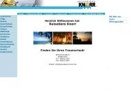 Website Knorr Bodo Reisebüro