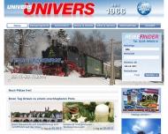Bild Webseite Univers - Reisen Köln