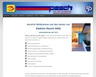 Bild Webseite Elektro Pesch Köln