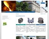 Bild Webseite Ernst Zürn Unternehmen für internationalen Handel München