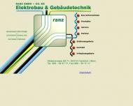Bild Webseite Elektrobau Ranz Frankfurt