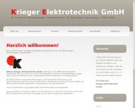 Bild Webseite Krieger Elektrotechnik Frankfurt