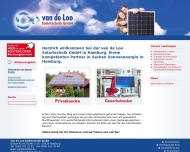 Bild Webseite Van de Loo Solartechnik Gesellschaft für Handel und Planung Hamburg
