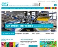Bild Webseite MCS Druck und Handel Berlin