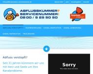 ABFLUSS VERSTOPFT - AKS Abflusskummer - Servicenummer