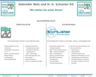 Bild Elektrische Anlagen GEBRÜDER BETZ und H.G. Schuster KG