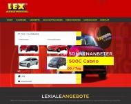 Bild Webseite LEX Autovermietung Dresden Dresden