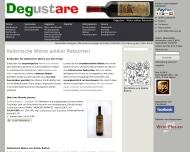 Bild Webseite DEGUSTARE - Weine historischer Rebsorten München