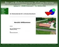 Website Bau- und Möbelschreinerei W. Herzing