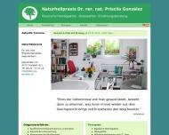 Website Naturheilpraxis Dr. Priscila Gonzalez