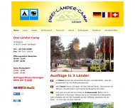Website Dreiländercamp Lörrach - Basel, Campingplatz