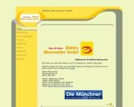 Bild Webseite Elektro Bleumortier München