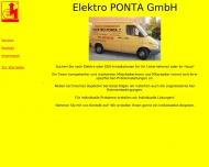 Website Elektro Ponta