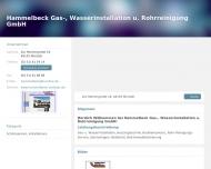 Bild Hammelbeck Gas-, Wasserinstallation u. Rohrreinigung GmbH