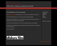 Bild Webseite diskurs film Verlag Schaudig & Ledig München