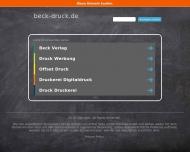Bild Webseite Beck Verlag Köln
