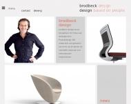 Bild Webseite BRODBECKDESIGN München