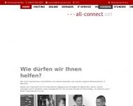Bild Webseite all-connect Data Communications München