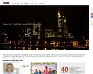 Bild Webseite COMEO Dialog, Werbung, PR München
