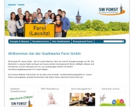 Website Stadtwerke Forst
